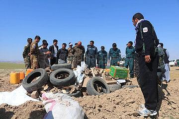 AFGHANISTAN-SARI PUL-SEIZED drogenkonsum BURNING