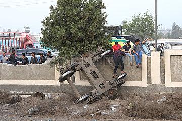 EGYPT-TOUKH-TRAIN DERAILMENT