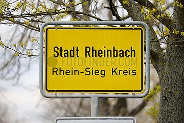 Ortsschild Stadt Rheinbach  Rhein-Sieg-Kreis  Nordrhein-Westfalen  Deutschland