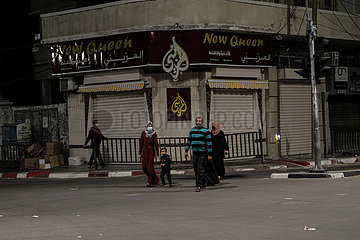 MIDEAST-GAZA-STADT-RAMADAN-LOCKDOWN