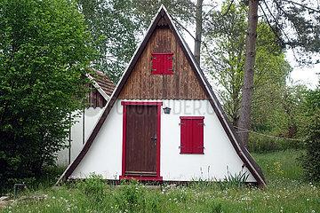 Dranse  Deutschland  dreieckiges kleines Ferienhaus
