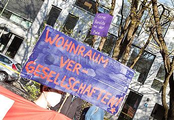 Protest für Mietenstopp in München