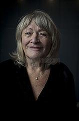 Alice Schwarzer stands for a portrait