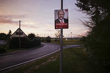 Schulz Wahlplakat