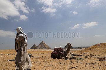 ÄGYPTEN-GIZA PYRAMIDS-TOURISMUS-COVID-19-EINFLUSS