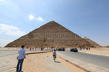 EGYPT-GIZA PYRAMIDS-TOURISM-COVID-19-INFLUENCE