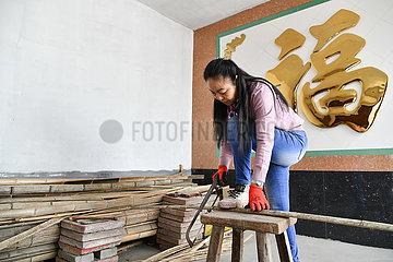 CHINA-SHANDONG-WEIFANG-KITE MAKING-Inheritor (CN)