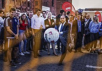 Martin Schulz besucht das SPD Buergerfest in Stralsund