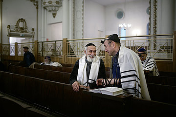 Service at the Orthodox Synagogue