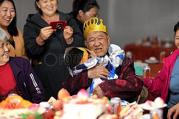 CHINA-SHANXI-LYULIANG-Wunsch Hundertjährigen (CN)