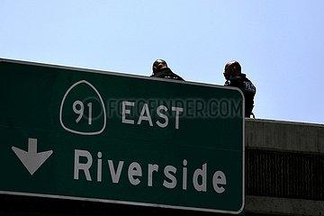 Von der Polizei U.S.-Los Angeles-SUSPECT IN DRIVE-BY SHOOTINGS abgetöteten