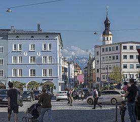 Rosenheim  Ludwigsplatz  27. April 2021