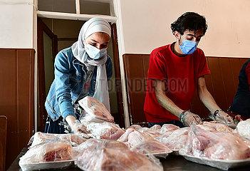 SYRIEN-DAMASKUS-RAMADAN-CHARITY KüCHEN