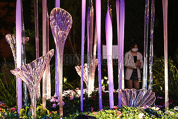 SINGAPUR-DALE CHIHULY- 'GLAS IN BLOOM' -Ausstellung-PREVIEW