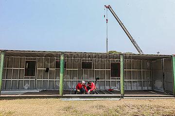 Philippinen  Manila-COVID-19-FIELD HOSPITAL