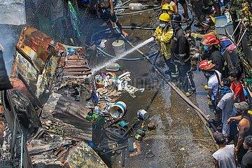 PHILIPPINEN-MANILA-WOHN FIRE