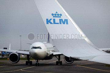 Amsterdam  Niederlande  Winglet eines Flugzeugs der KLM