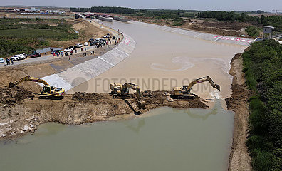 CHINA-ANHUI-WATER DIVERSION PROJECT-WATER BRIDGE-Öffnung (CN)
