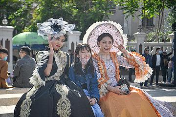 CHINA-TIANJIN-Touristenort Feiertag (CN)