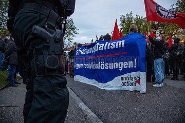 Walpurgisnachtdemo in Grünwald