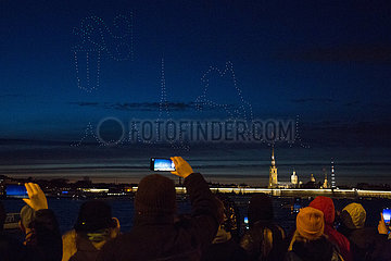 RUSSLAND-ST. PETERSBURG-DRONE FESTIVAL