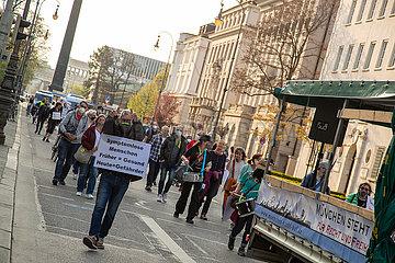 Querdenken Demo gegen den Lockdown in München