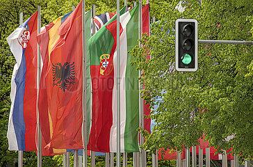 Europaeische Laenderflaggen  Muenchen  Mai 2021