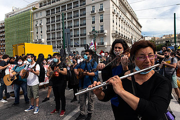 GRIECHENLAND-ATHEN-MAY DAY-DEMONSTRATION