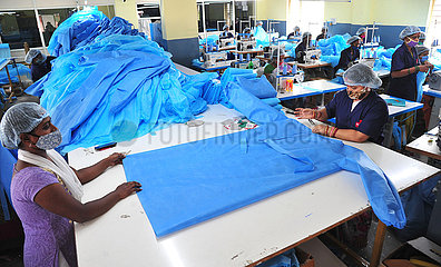 INDIA-BANGALORE-PPE KITS MANUFACTURING