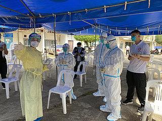 LAOS-VIENTIANE-COVID-19-CHINESE MEDICAL TEAM