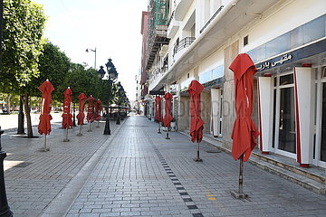 TUNESIEN-TUNIS-COVID-19-GENERAL LOCKDOWN