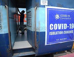 INDIEN-Agartala-COVID-19-TRAIN Isolierstationen