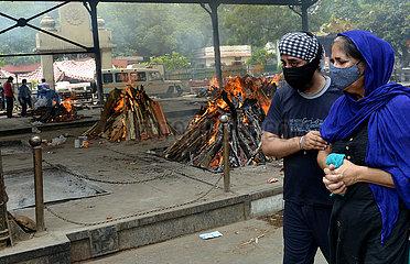 INDIEN-NEW DELHI-COVID-19 OPFER
