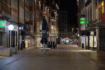 Deutschland  Bremen - Leere Innenstadt in der Corona-Pandemie