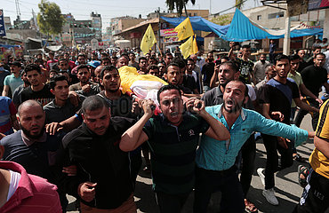 MIDEAST-GAZA-FUNERAL