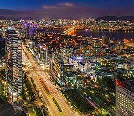 Nachtaufnahme Gangnam  Seoul | Gangnam night shot  Seoul