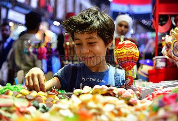 SYRIA-DAMASCUS-EID AL-FITR-CHILDREN