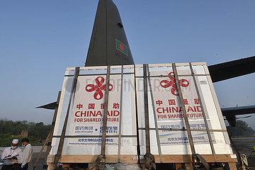 BANGLADESH-DHAKA-CHINA-DONATED VACCINES-ARRIVAL