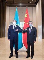 CHINA-SHAANXI-XI'AN-WANG YI-KAZAKHSTAN-TALKS (CN)