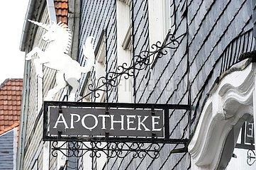 historisches Apotheken-Schild