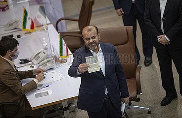 IRAN-TEHERAN-PRÄSIDENTSCHAFTSWAHL-ANMELDUNG