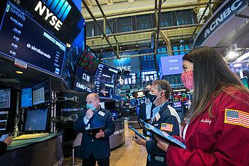 US--NEW YORK-NYSE-INDIZES DECLINE