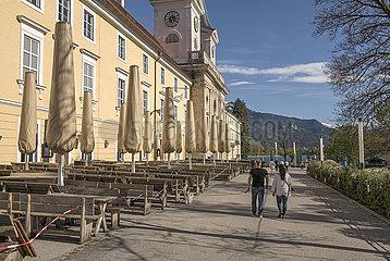 Braeustueberl Tegernsee  Kloster  am Tegernsee  Lockdown  9. Mai 2021