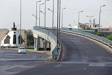 IRAK-BAGDAD-Eid al-Fitr-COVID-19-MASSNAHMEN