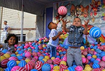 SYRIEN-DAMASKUS-Eid al-Fitr-PEOPLE