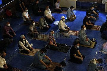 TURKEY-ANKARA-EID AL-FITR-PRAYERS