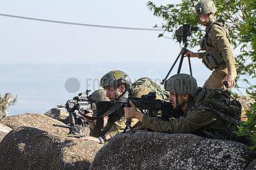 ISRAEL-METULA-BORDER-SOLDIERS-DEPLOYMENT