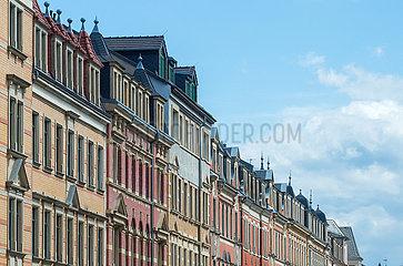 Dresden  Deutschland - Gr?nderzeit-Fassaden im Stadtteil Pieschen