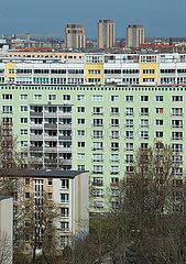 Berlin  Deutschland - Wohnbebauung in der City Ost