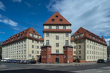 Dresden  Deutschland - Wohnanlage Roemmler-Haueser am Bischofsplatz in Dresden-Neustadt